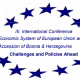 """III. International Conference """"Economic System of European Union and  Accession of Bosnia & Herzegovina – Challenges and Policies Ahead"""" organized by ECSA BiH will be held on October 24, 2020, starting at 10 am online"""